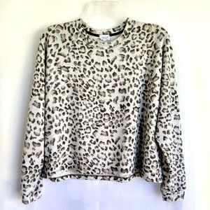 Le Lis Collection Leopard Print Distressed Sweatshirt
